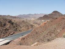 Route dans les dunes Images libres de droits
