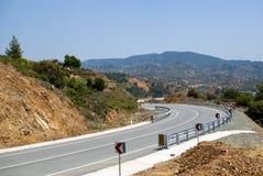 Route dans les montagnes Photo libre de droits