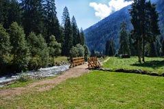 Route dans les montagnes Photos libres de droits