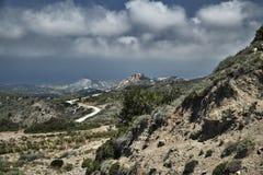 Route dans les montagnes sur l'île Photos libres de droits
