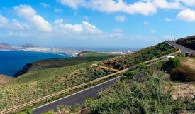Route dans mamie Canaria, Espagne, l'Europe Images libres de droits