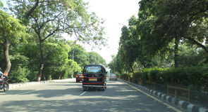 Route dans NOIDA Images stock