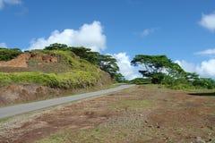 Route dans Nuku Hiva Photographie stock libre de droits