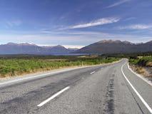 Route dans NZ Images libres de droits
