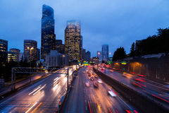 Route dans Seattle Image stock