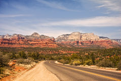 Route dans Sedona Photos stock