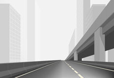 Route dans une ville Images stock
