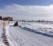 Route dans Yamal Image stock