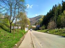 Route dans Yaremche Image libre de droits