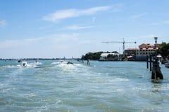 Route de bateau à Venise photo stock