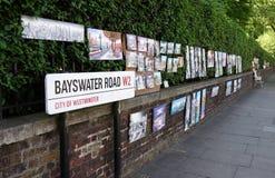 Route de Bayswater, Londres, R-U Image stock