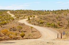 Route de Bunyeroo - livre de Wilpena photographie stock
