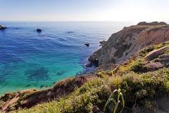 Route de Côte Pacifique de l'itinéraire 1 d'état de l'océan pacifique - la Californie - pont voisin de crique de Bixby, région de Photos libres de droits