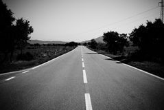 Route de campagne Photographie stock