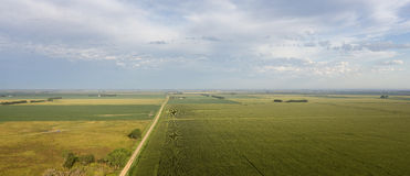 Route de campagne aérienne photos libres de droits