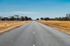 Route de campagne australienne Photo stock