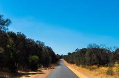 Route de campagne australienne Photographie stock libre de droits