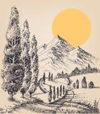 Route de campagne de Cypress illustration libre de droits