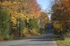 Route de campagne d'automne Photographie stock libre de droits