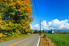 Route de campagne d'automne, sultan Washington Image stock