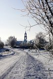 Route de campagne de l'hiver Images libres de droits