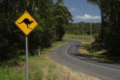 Route de campagne en Australie Image stock