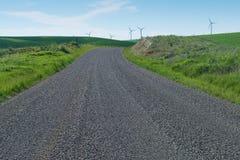 Route de campagne en automne Photographie stock libre de droits