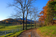 Route de campagne en Virginie Photographie stock libre de droits