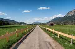 Route de campagne entre les champs images stock