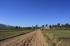 Route de campagne malgache Photographie stock
