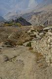 Route de campagne Népal image stock