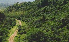 Route de campagne de saleté dans la colline Images stock