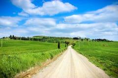Route de campagne toscane image libre de droits
