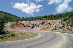 Route de Cerna Image libre de droits