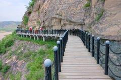 Route de chevalet de la rivière Yellow images stock
