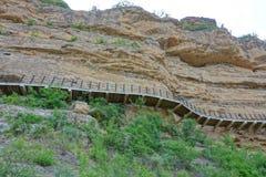 Route de chevalet de la rivière Yellow photographie stock libre de droits