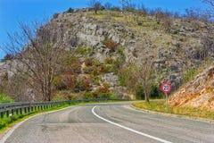 Route de Cikola de rivière photographie stock