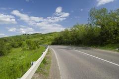 Route de colline Photos stock
