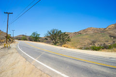Route de collines de la Californie Images stock