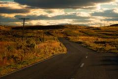 Route de coucher du soleil Photo libre de droits