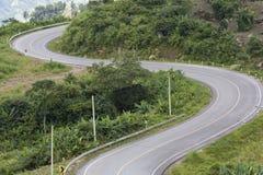 Route de courbe Photographie stock