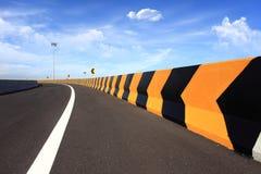 Route de courbe Photos stock