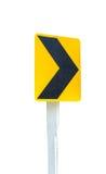 Route de courbe d'isolat de route de signe sur le fond blanc Image libre de droits
