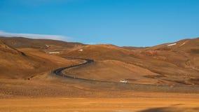 Route de courbe de S Image libre de droits