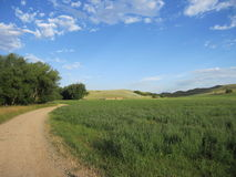 Route de Cournty. Photo libre de droits
