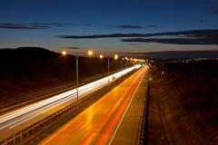 Route de crépuscule Image libre de droits