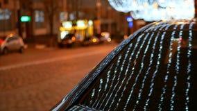 Route de décoration de rue de Noël clips vidéos