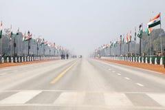 Route de défilé pour le défilé de jour de République, 2014 Photo libre de droits