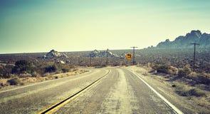 Route de désert, concept de voyage, Etats-Unis Image stock