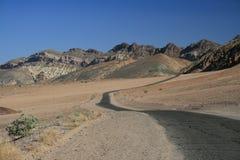 Route de désert d'enroulement Photo libre de droits